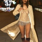 Naked thigh Nayantara nipple seen in fishnet top without bra inside