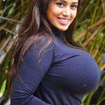 Sexy tight top Nivetha Pethuraj big boobs hot melon