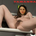 Nude hairy pussy Tamannaah spreading naked legs sexy thigh pic