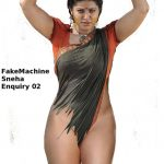 Sexy semi nude Sneha nude pussy covered by her saree bondage pic