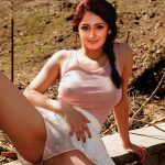 Sayesha Saigal nipple see though touching her panties in public