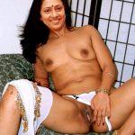 Lakshmy Ramakrishnan touching her black pussy topless behind the studio