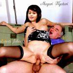 Mayuri Kyatari fucking old man cock topless boobs pressed hard