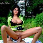 Megha Akash nude nipple hot pussy fucking on top outdoor