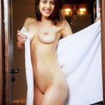 Niharika Konidela showing her Naked Body in Towel after bathing