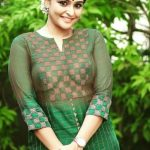 Remya Nambeesan sexy boobs visible without bra in transparent dress