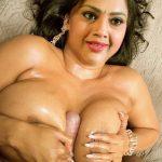 Meena pressing her big boobs nude milf cleavage fucked
