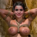 Samantha Akkineni naked boobs tied hot bondage slave photo