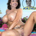 Naked hot Kajal Agarwal BBW in pool porn xxx nude fakes photo