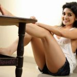 Nivetha Thomas shaved armpit in sleeveless top without bra inside sexy naked leg