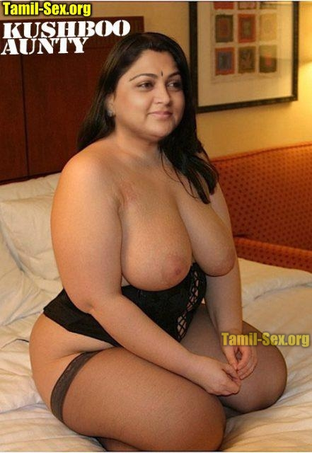 Topless Kushboo aunty waiting in private hotel room photo