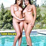 Telugu Heroine Mehrene Kaur Pirzada full nude with Kajal without dress