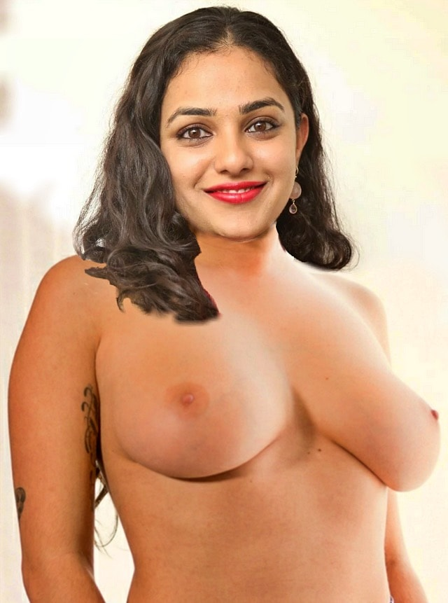 Nithya menen nude huge Milky boobs mallu tanker actress without blouse and bra