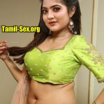 Nandana Varma nude navel hot blouse without half saree