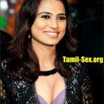 Ramya Pandian nude cleavage bra show in bigg boss house