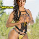 Hot Raai Laxmi lockdown pressing her boobs nipple pierced outdoor photo
