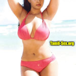 Honey Rose semi nude beach bikini shaved armpit show