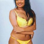 Sexy busty Navya Nair semi nude yellow bra panties photo without dress