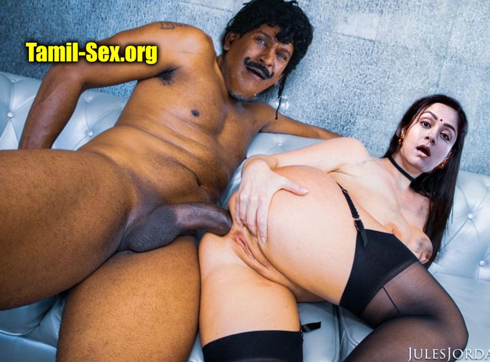 Vadivelu fucking naked white Jyothika ass hole hot anal sex