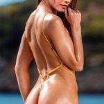 Rashmika Mandanna semi nude bikini ass back pose tweet