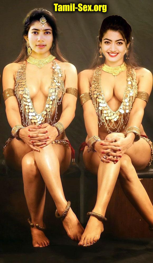 Sai pallavi lesbian Rashmika Sexy Dress semi nude photoshoot